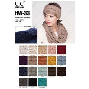 Black C.C Confetti Cable Knit Headwrap
